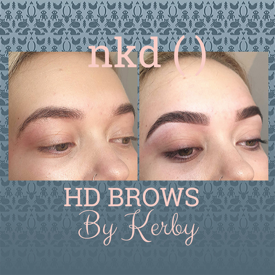HD brows by Kerby - before and after