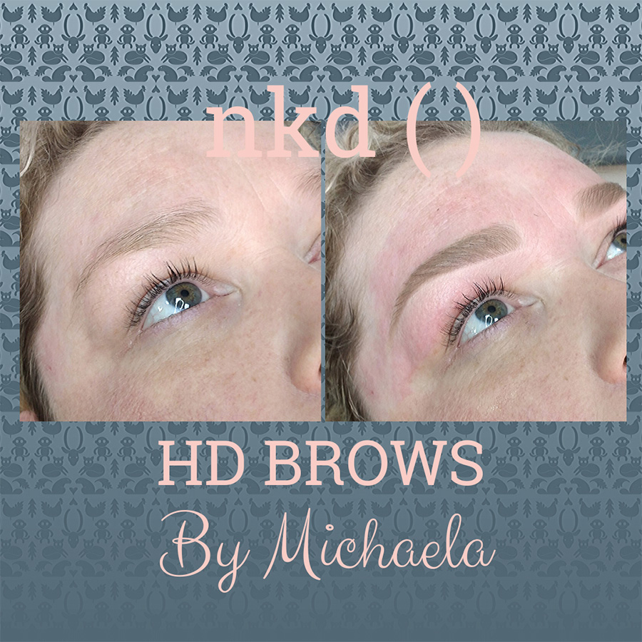 HD brows by Michalea - before and after