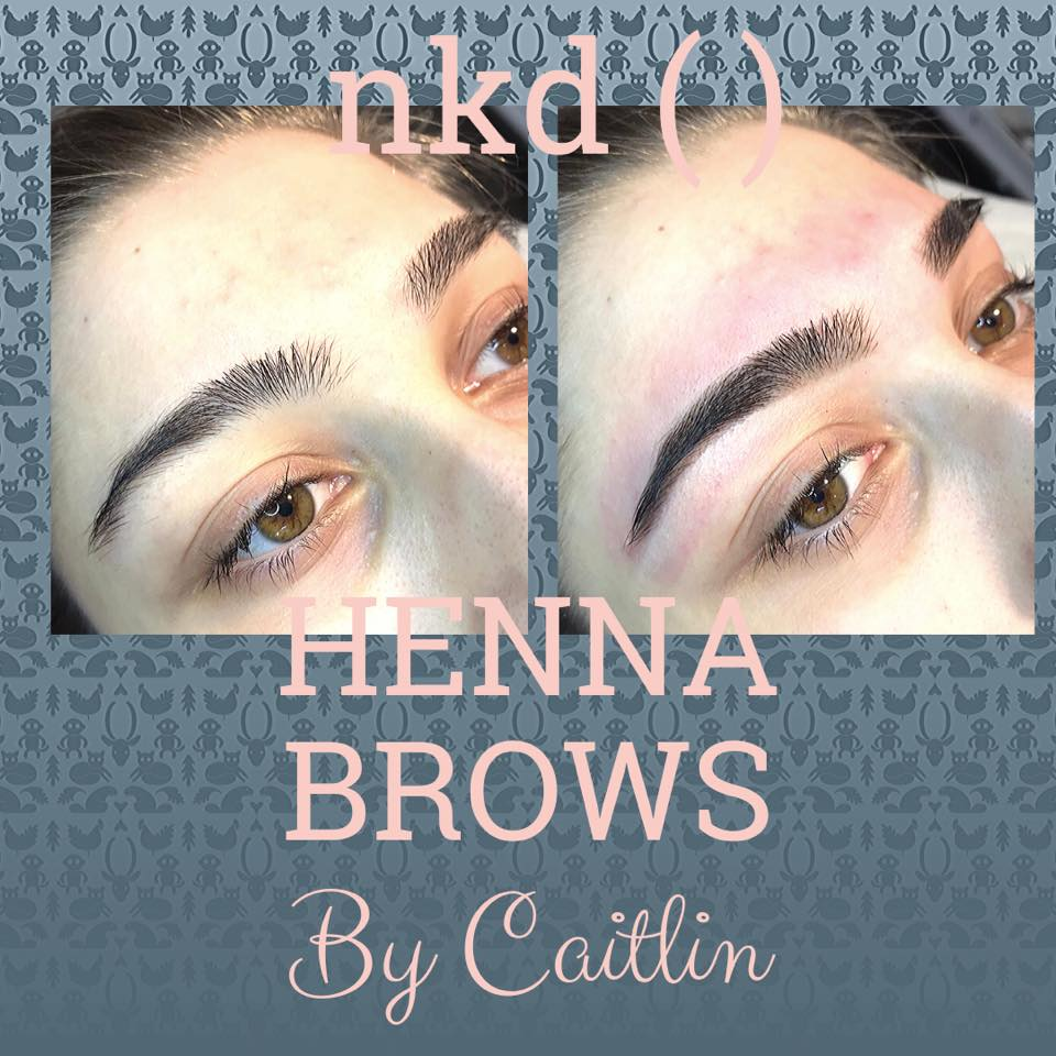 henna brows treatment before and after