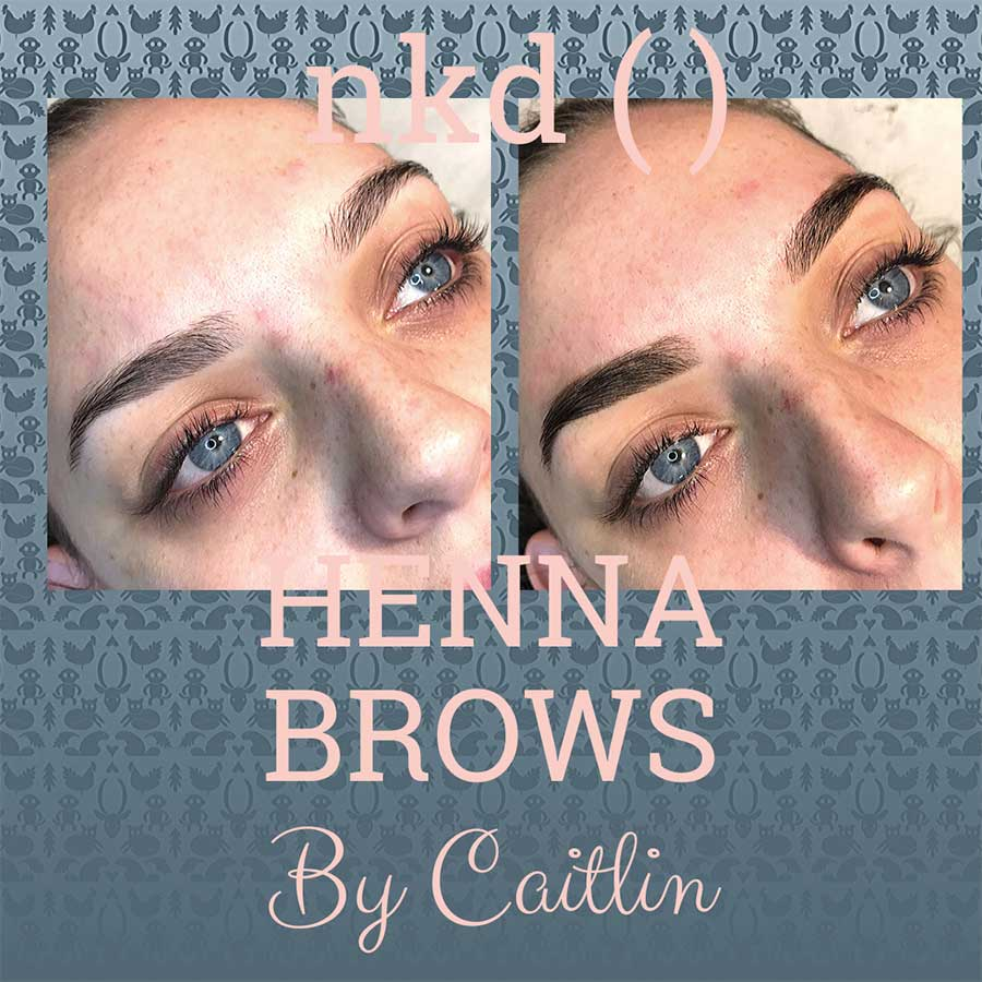 Henna brows by Caitlin - before and after
