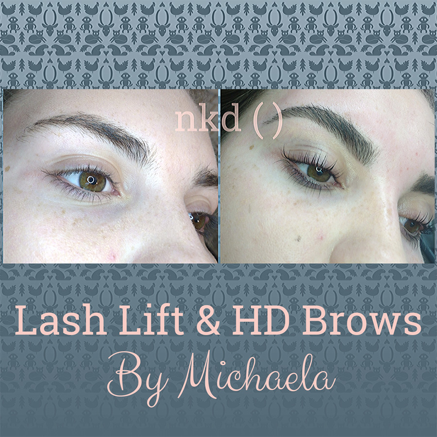 Lash lift and HD brows by Michaela - before and after