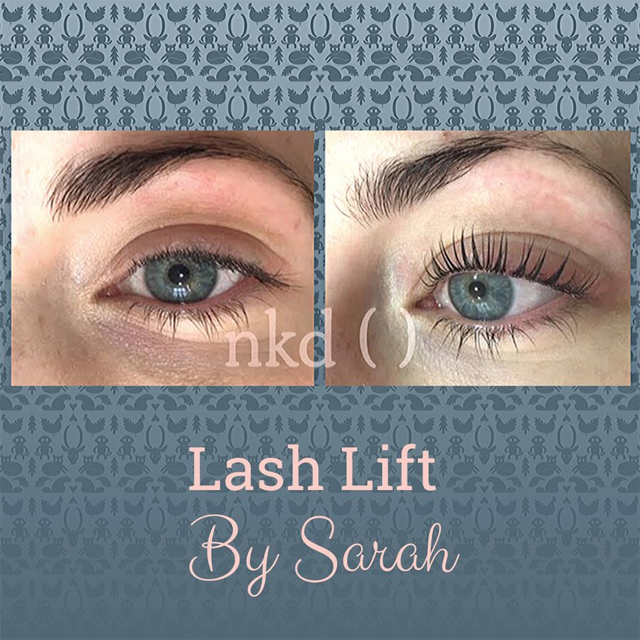 Lash lift by Sarah - before and after