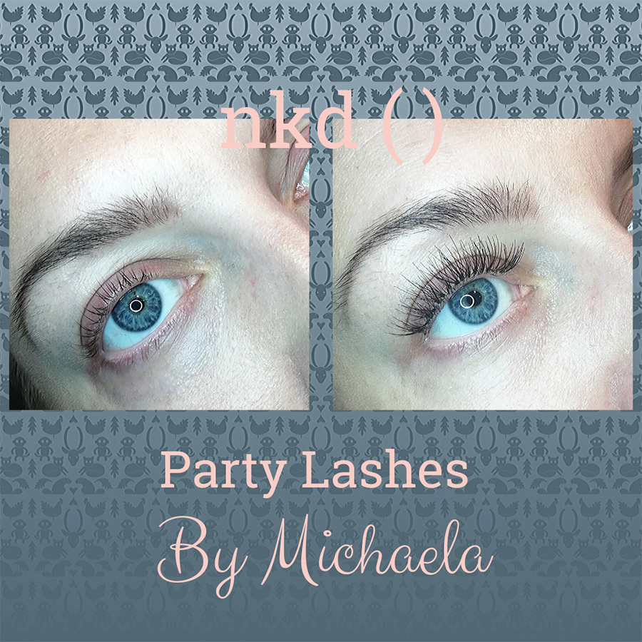 Party lashes by Michaela - before and after